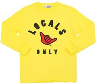 White Local Only Printed Cotton Sweatshirt