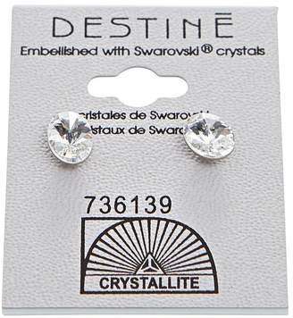 Crystallite Crystal Oval Rivoli Earrings