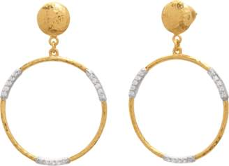 Gurhan Delicate Geo Pave Drop Earrings