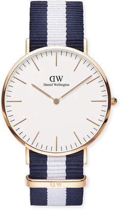 Daniel Wellington 40mm Classic Cambridge Glasgow Watch