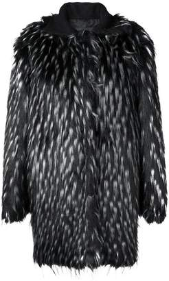 Just Cavalli faux fur midi coat