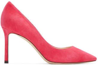 Jimmy Choo Pink Suede Romy Heels