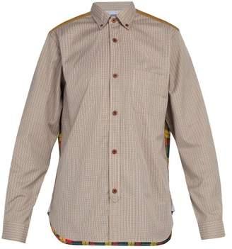 Junya Watanabe Plaid Cotton Twill Shirt - Mens - Beige