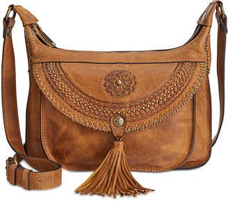 Patricia Nash Distressed Leather Camila Crossbody