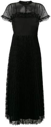 RED Valentino rhinestone organza and lace dress