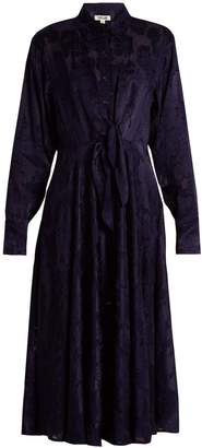 Diane von Furstenberg Long-sleeved waist-tie devoré shirtdress