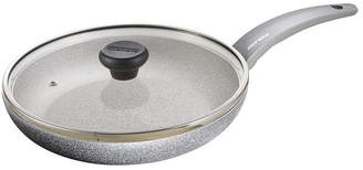"""Moneta Greystone Non-Stick Forged Aluminum 8.5"""" Fry Pan with Lid"""