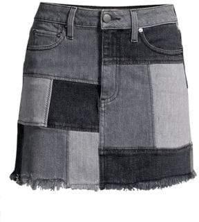 bdadc35a4 Alice + Olivia Jeans Jeans Women's Amazing Patchwork Denim Skirt - Night  Sky - Size 25