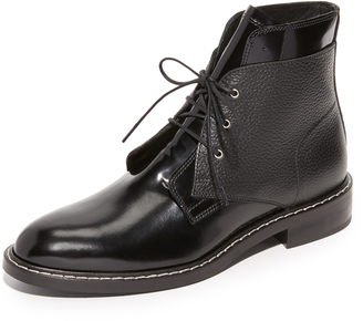 MM6 Lace Up Flat Booties $630 thestylecure.com