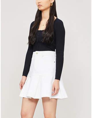 Nobody Denim Gemini pleated denim skirt