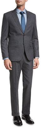 BOSS Tonal Stripe Two-Piece Suit, Gray $995 thestylecure.com