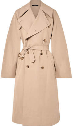 Bassike Belted Cotton And Linen-blend Trench Coat - Beige