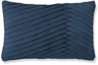 Williams-Sonoma Pleated Velvet Lumbar Pillow Cover, Tapestry