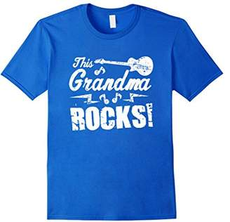 N. This Grandma Rocks T Shirt - Guitar Rock Roll Funny Tee