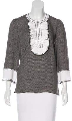 Andrew Gn Ruffled Printed Top