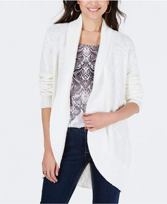 Style&Co. Style & Co Shawl-Lapel Open-Front Cardigan