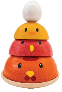 Plan Toys Piling-up Wooden Chicken
