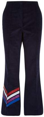 Mira Mikati Glitter Stripe Corduroy Trousers