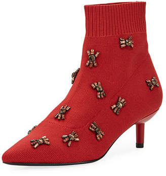 Donald J Pliner Betti Embellished Kitten-Heel Booties