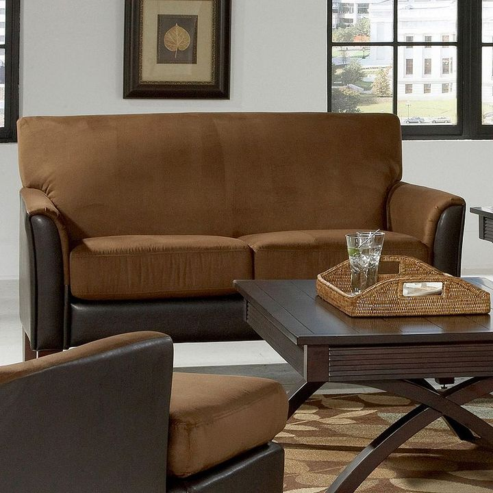 Homevance two-tone love seat