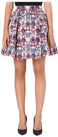 Mary Katrantzou Flared twill skirt