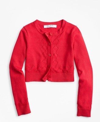 Brooks Brothers Girls Cotton Cropped Cardigan