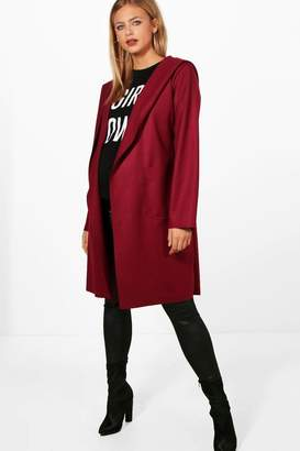 boohoo Maternity Oversized Hooded Waterfall Coat