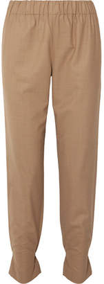 Tibi Woven Tapered Pants - Sand