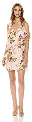 Parker Women's Glory Cold Shoulder Ruffle Detail Mini Dress