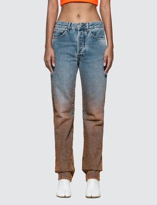 Off-White Off White Degrade Two-tone Jeans