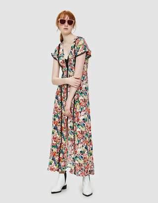 Ganni Maple Silk Maxi Dress in Multi