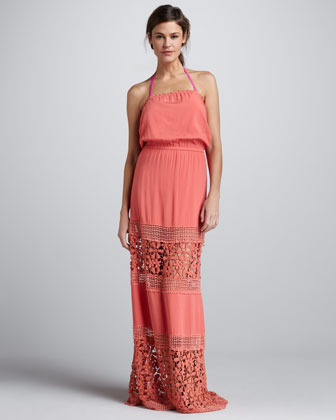 6 Shore Road 6 Shoreroad Charlotte Crochet-Panel Maxi Dress