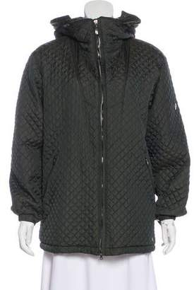 Post Card Quilted Zip Jacket