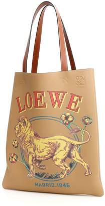 Loewe Vertical Tote With Lion Print
