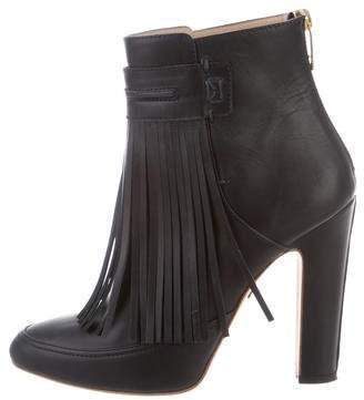 Maiyet Fringe-Trimmed Ankle Boots