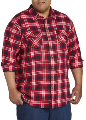 Canyon Ridge Men's Big And Tall Long Sleeve Double Pocket Flannel Shirt, Up To 7Xl