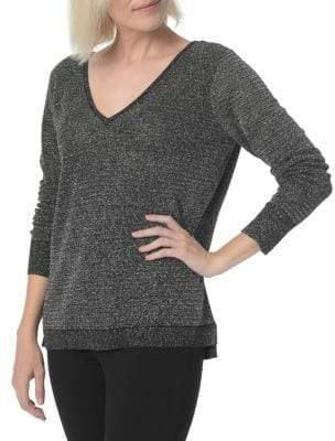 NYDJ Double V-Neck Sweater