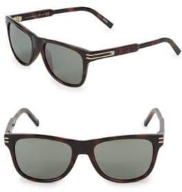 Montblanc Injected 56MM Aviator Sunglasses