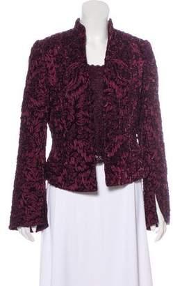 Carmen Marc Valvo Velvet Jacket Set
