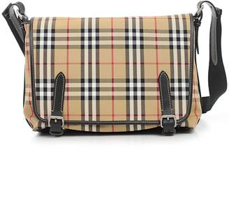Burberry Checked Foldover Shoulder Bag