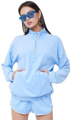 Juicy Couture Microterry Half Zip Pullover