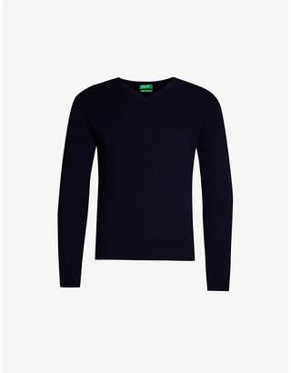 Benetton Unisex V-neck cashmere jumper