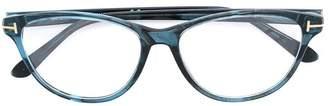 Tom Ford cat eye shaped glasses