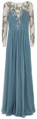 Alberta Ferretti Embroidered Silk Gown