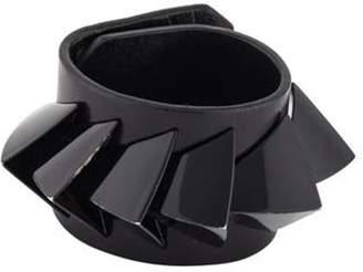 Givenchy 3D Triangles Leather Bracelet black 3D Triangles Leather Bracelet
