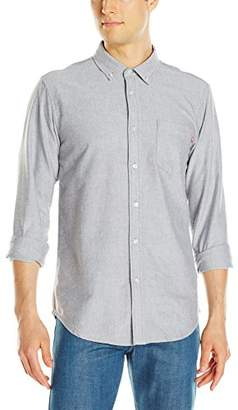 Obey Men's Dissent Trait Woven Long Sleeve Shirt
