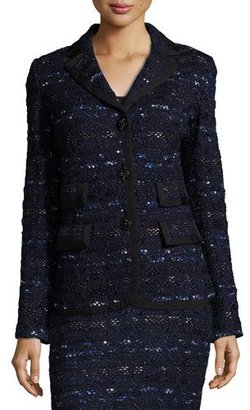 St. John Collection Evening Cruise-Stripe Jacket, Navy/Multi $1,995 thestylecure.com