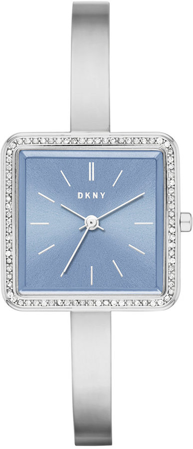 DKNYDKNY Women's Stonewall Stainless Steel Half-Bangle Bracelet Watch 24mm NY2557