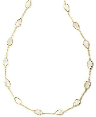 Ippolita 18K Polished Rock Candy Small Mother-of-Pearl Pear-Station Necklace