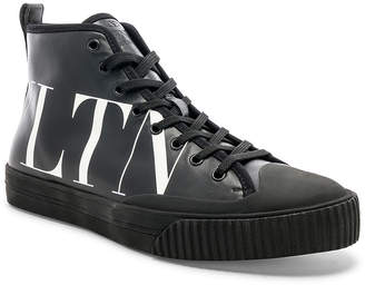 Valentino Leather VLTN Hi Top Sneakers
